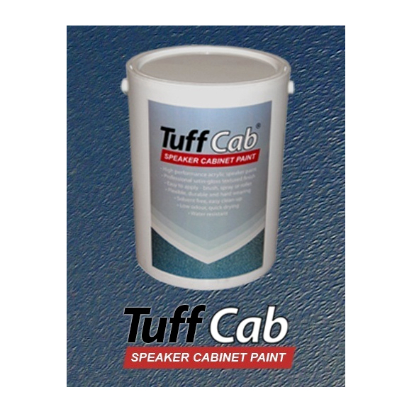 tuff cab speaker cabinet paint turbo blue 5kg tub free