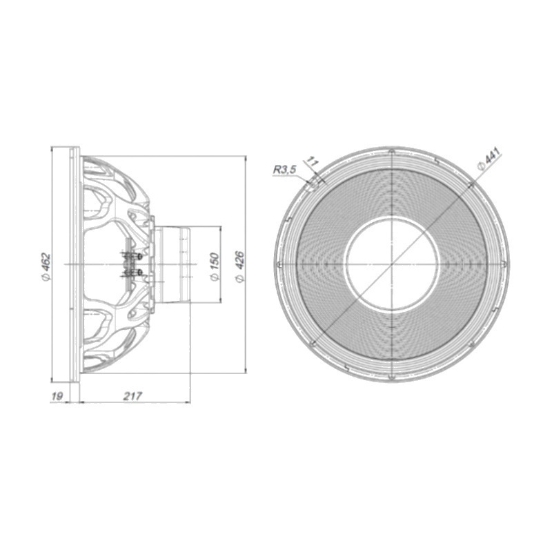 Beyma 18LEX1600Nd - 18 inch 1600W 8 Ohm