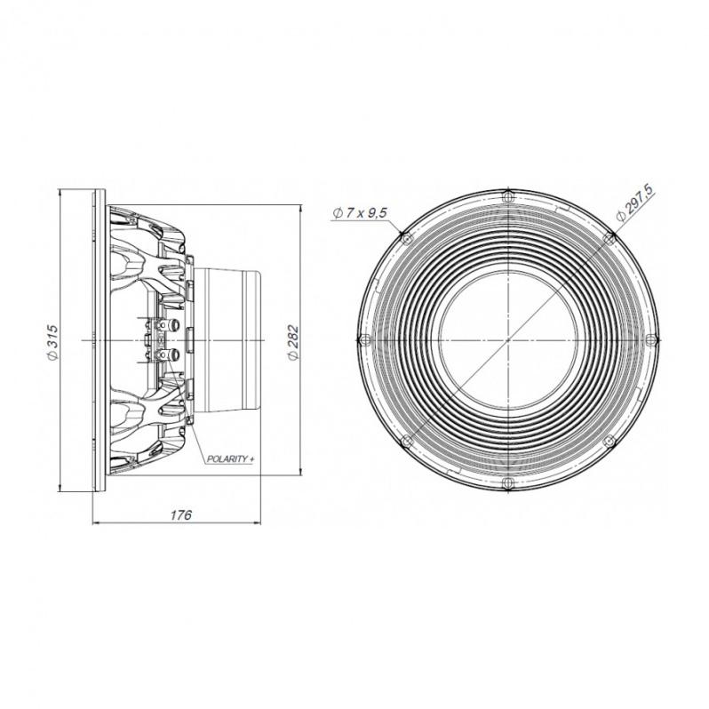 Beyma  - 12Lex1300Nd 12 inch 1300W 8 Ohm