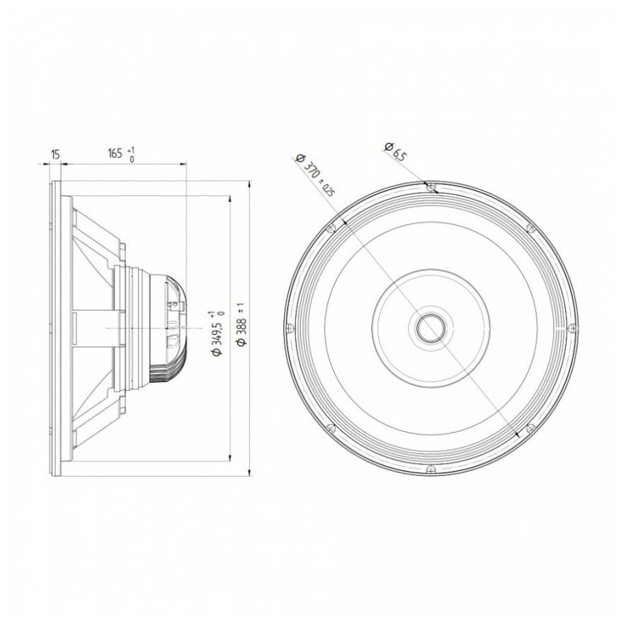 Beyma 15CXA400Nd - 15 inch 400W 8/16 Ohm