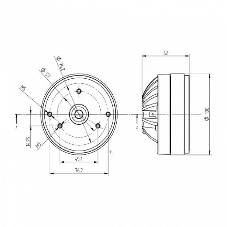 Beyma CD10Fe/N 1 inch 16 Ohm 70W Compression Driver
