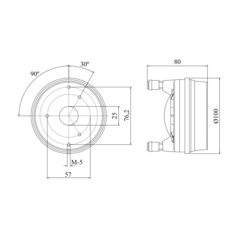 Beyma CP385Nd 16 Ohm 70W 1 inch Bolt-on Compression Driver
