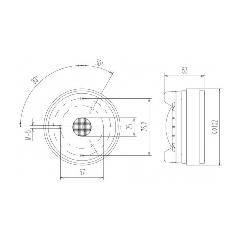 Beyma SMC280S/T 8 Ohm 50W 1 inch Bolt On Compression Driver