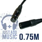 JAM 75cm Balanced XLR Mic Cable / Signal Lead