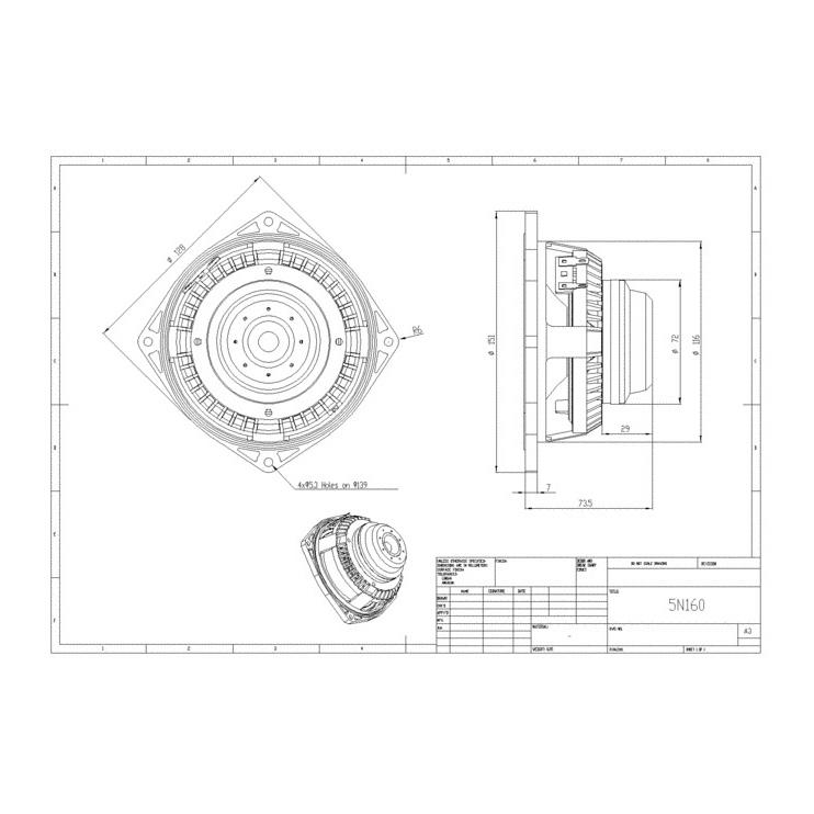 BMS 5N160L - 5 inch 130W 8 Ohm