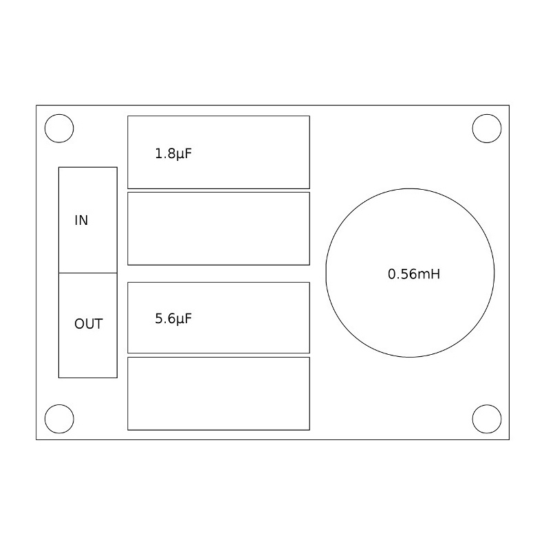 Convair Electronics High Pass Filter 3.5kHz 16 Ohm 18dB