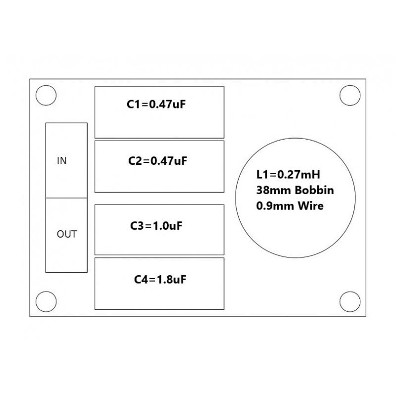 Convair Electronics High Pass Filter 7kHz 16 Ohm