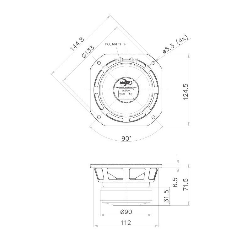 Faital Pro 5fe100 5 80w 8 Ohms From Faital Pro 19 28 In Stock 7