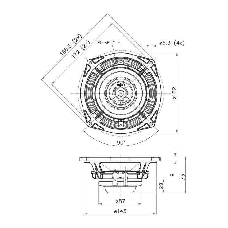 Faital Pro 6RS140 6 inch 200W 8 Ohm