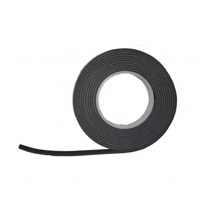Black EVA Foam Gasket Tape (Roll) 15mm x 3mm x 5m