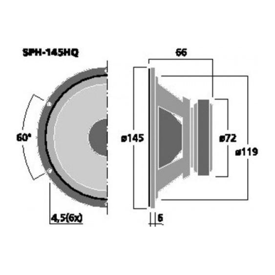 Monacor SPH-145HQ 6 inch 50W 8 Ohm Loudspeaker Driver