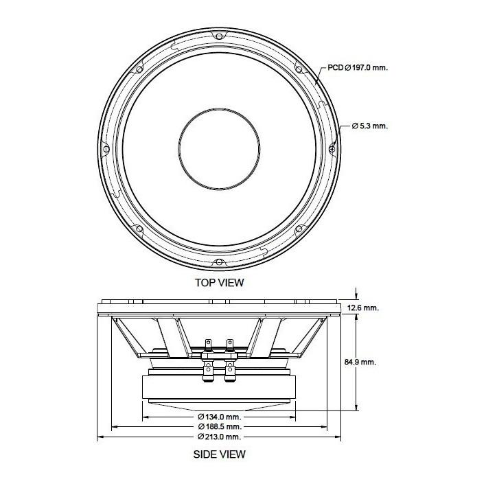 P-Audio SN8-200F - 8 inch 200W 8 Ohm