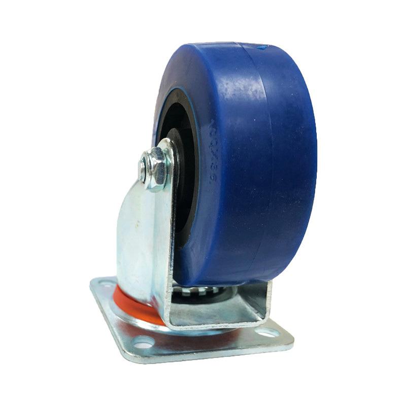 Premium Swivel Castor - Blue Wheel 100mm