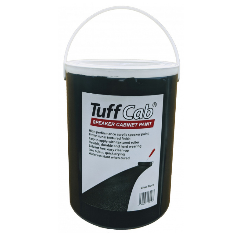 Tuff Cab Speaker Cabinet Paint Black 5Kg from Tuff Cab 4000